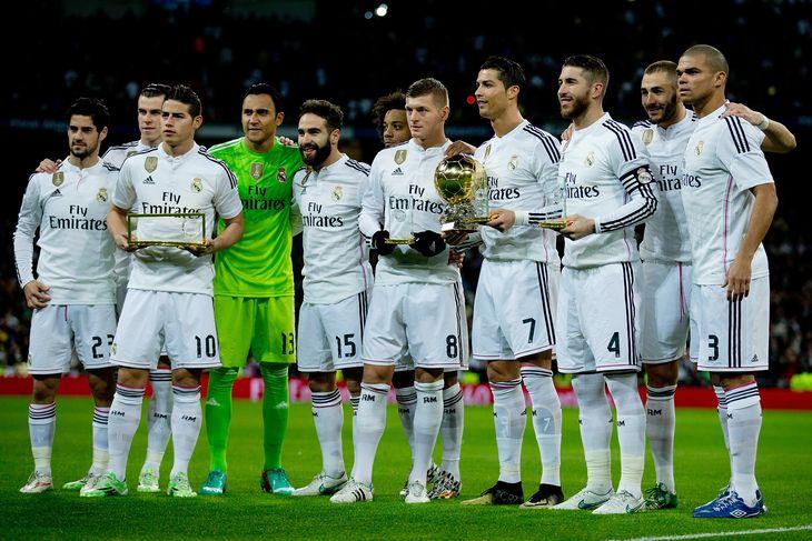 Основной состав футбольного клуба реал мадрид